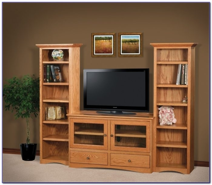 Magnificent Preferred TV Stands With Matching Bookcases Pertaining To 3 Glass Shelf Tv Stand Bookcases Matching Bookcase Throughout (View 10 of 50)