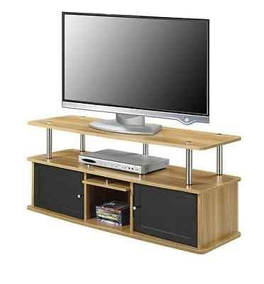 Magnificent Preferred Wooden TV Stands For Flat Screens Pertaining To Oak Wood Tv Stand Entertainment Media Center For Flat Screen (Image 39 of 50)