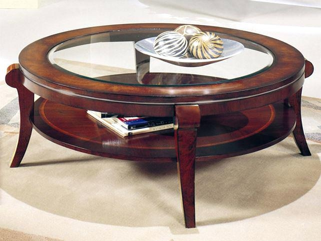 Magnificent Premium Coffee Tables With Rounded Corners In Coffee Table Coffee Table New Round Wood And Glassoak Rounded (View 34 of 50)