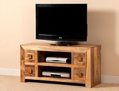 Magnificent Premium Mango Wood TV Stands Inside Large Solid Wood Tv Unit 42 Mango Wood Tv Stand Casa Bella (View 11 of 50)