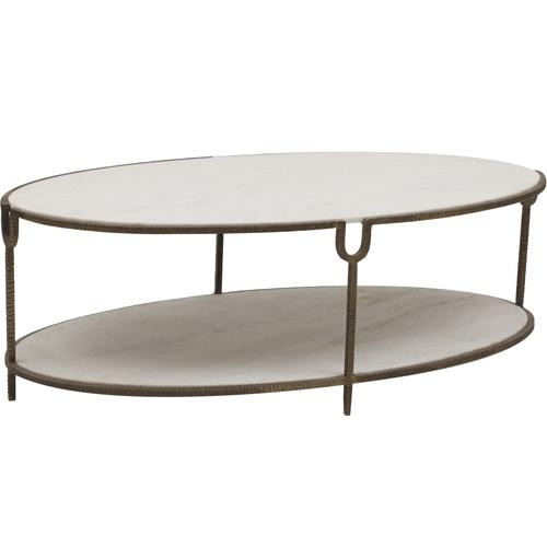 Magnificent Premium Metal Oval Coffee Tables Pertaining To Raul Quartz Metal Base Coffee Table (View 5 of 50)