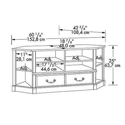 Magnificent Premium Oak Corner TV Stands For Flat Screens Regarding Corner Tv Stand Oak Wood Media Center Console Entertainment (View 50 of 50)