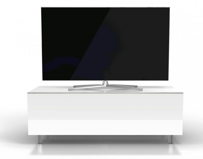 Magnificent Premium White TV Cabinets With Regard To Racks Jrl1100s Sl Gloss White Tv Cabinet With Drawer (Image 36 of 50)