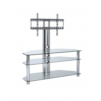 Magnificent Series Of 61 Inch TV Stands With Regard To Black Glass Cantilever Tv Stand Mmt Cbm (View 28 of 50)