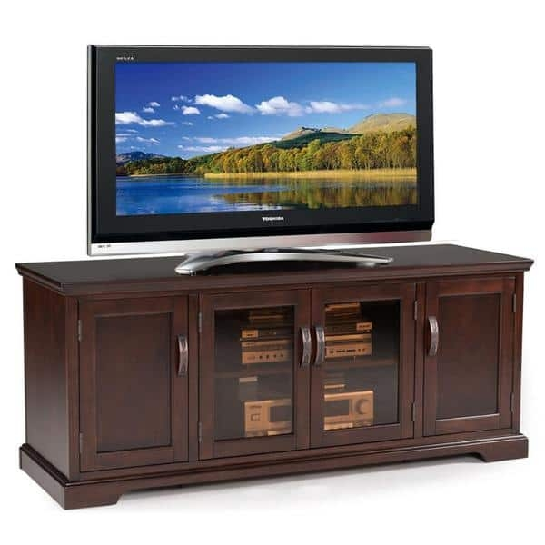 Magnificent Series Of Cherry TV Stands Pertaining To Chocolate Cherry And Bronze Glass 60 Inch Tv Stand Free Shipping (Image 34 of 50)