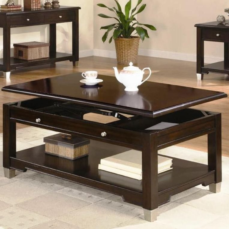 Magnificent Series Of Dark Brown Coffee Tables In Rich Dark Brown Coffee Table Coffee Tables (Image 36 of 50)