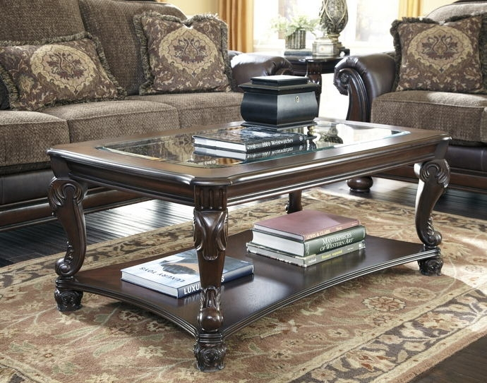 Magnificent Series Of Dark Brown Coffee Tables With Regard To Norcastle Ii Collection (View 44 of 50)