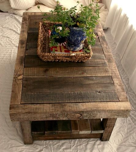 Magnificent Series Of Rustic Barnwood Coffee Tables Inside Top 25 Best Coffee Table Planter Ideas On Pinterest Rustic (View 37 of 50)