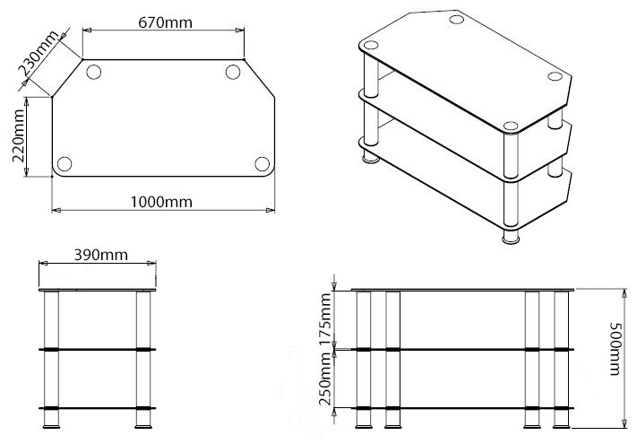 Magnificent Series Of Stil TV Stands Inside Stealth Mounts Sm 05 Tv Stands (View 35 of 49)