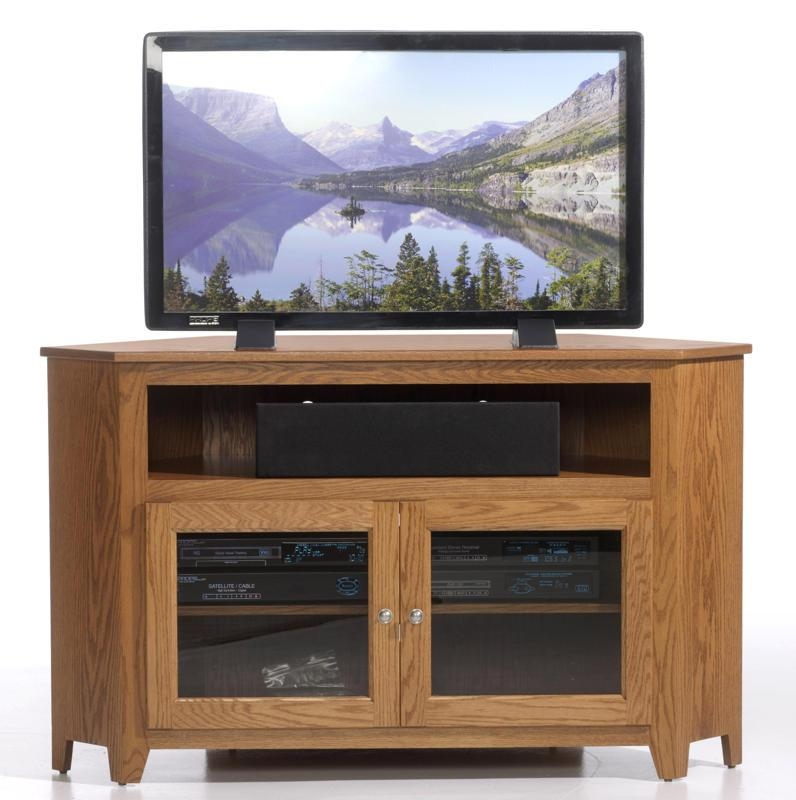 Magnificent Series Of Wooden Corner TV Stands With Express 37 Economy Corner Tv Stand (View 37 of 50)