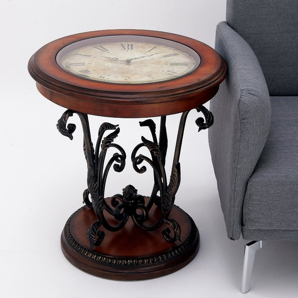 Magnificent Top Clock Coffee Tables Round Shaped Within Round Clock Coffee Table Wayfair (Image 37 of 50)