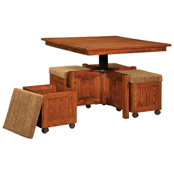 Magnificent Top Coffee Tables With Seating And Storage Regarding Coffee Table Amish Lift Top Coffee Table Solid Oak Coffee Table (Image 41 of 50)