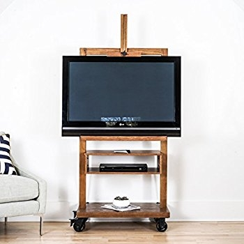 Magnificent Top Easel TV Stands For Flat Screens For Amazon Hives And Honey Cullen Oak Tv Console Kitchen Dining (View 21 of 50)