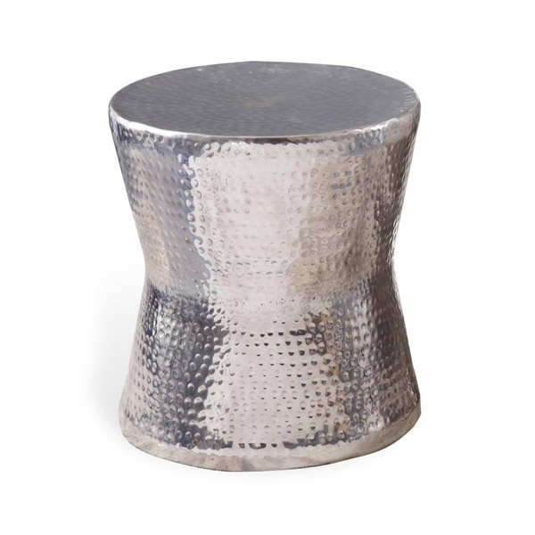 Magnificent Top Hammered Silver Coffee Tables Regarding Round Silver Side Table (Image 36 of 50)