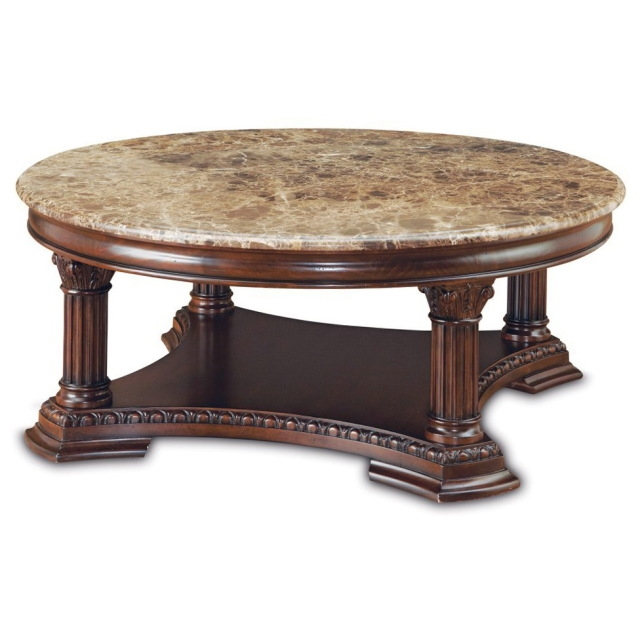 Magnificent Top Marble Round Coffee Tables With Regard To Confortable Marble Top Coffee Table Round On Interior Home Design (View 24 of 50)
