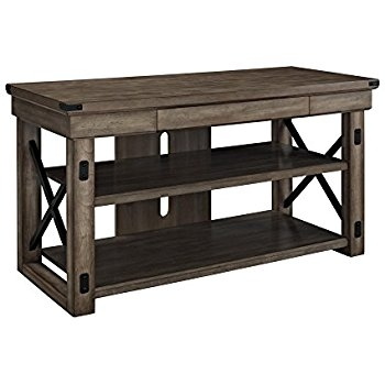 Magnificent Top Oak Veneer TV Stands Inside Amazon Rustic Oak Tv Stand Farmhouse Style For Your (View 21 of 50)
