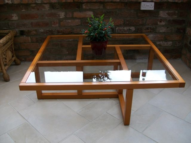 Magnificent Top Retro Teak Glass Coffee Tables Throughout Home Collection On Ebay (View 31 of 50)