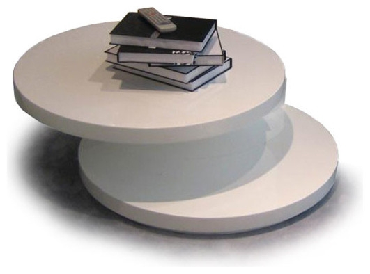 Magnificent Top Round Swivel Coffee Tables Intended For Modern White Round Coffee Table Table And Estate (View 38 of 50)