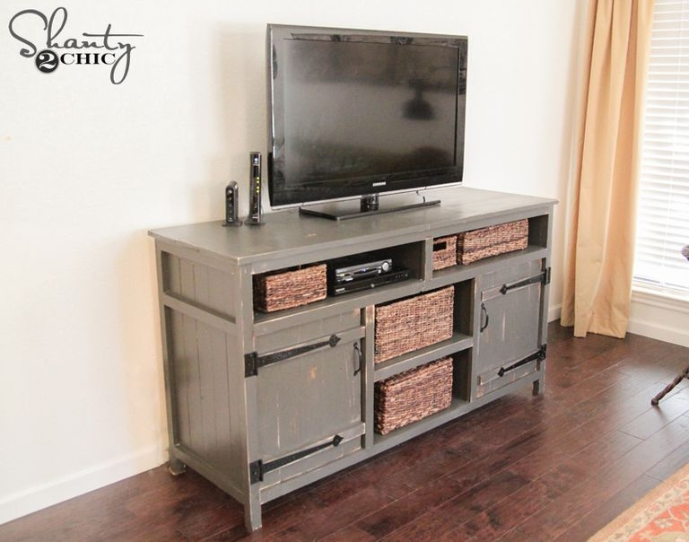 Magnificent Top Rustic Looking TV Stands Pertaining To 9 Free Tv Stand Plans You Can Diy Right Now (Image 36 of 50)