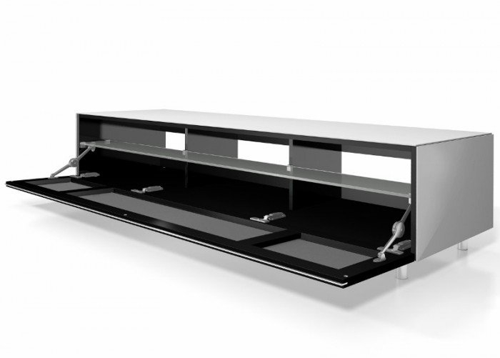 Magnificent Top Small White TV Cabinets Inside Racks Jrl1651s Gloss White Extra Wide Tv Cabinet With Fabric (Image 31 of 50)