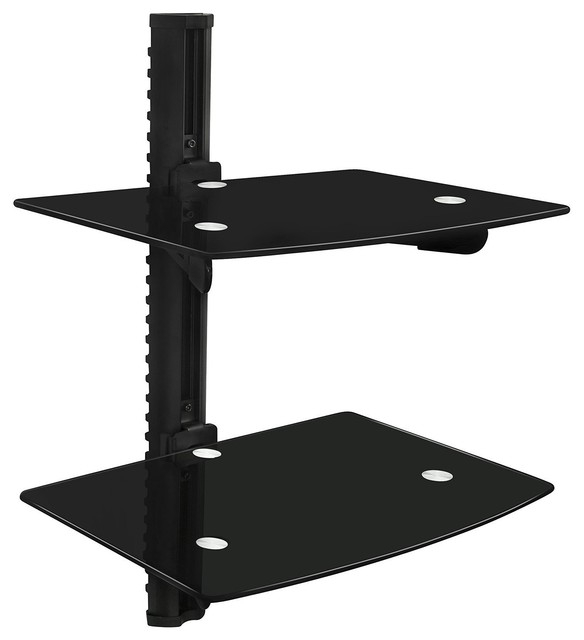 Magnificent Top Wall Mounted TV Stands With Shelves Pertaining To Floating Wall Mounted Shelf Bracket Stand Two Shelves (Image 43 of 50)