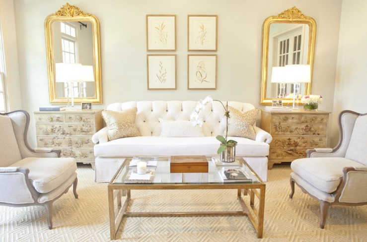 Magnificent Top White French Coffee Tables Throughout Glass And Brass Coffee Table French Living Room Munger Interiors (Image 36 of 50)