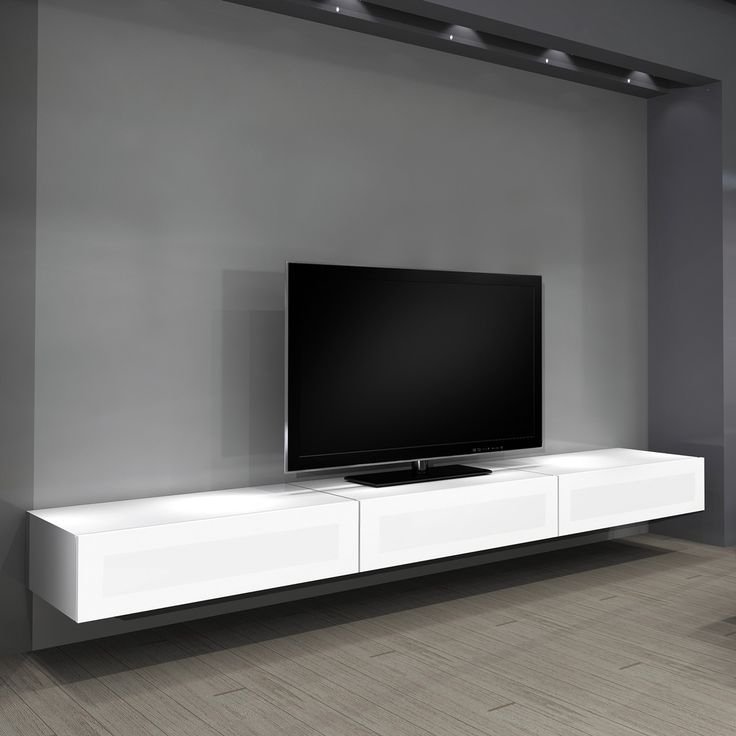 Magnificent Top White Wall Mounted TV Stands Inside Top 25 Best Wall Mounted Tv Console Ideas On Pinterest Mounted (Image 40 of 50)