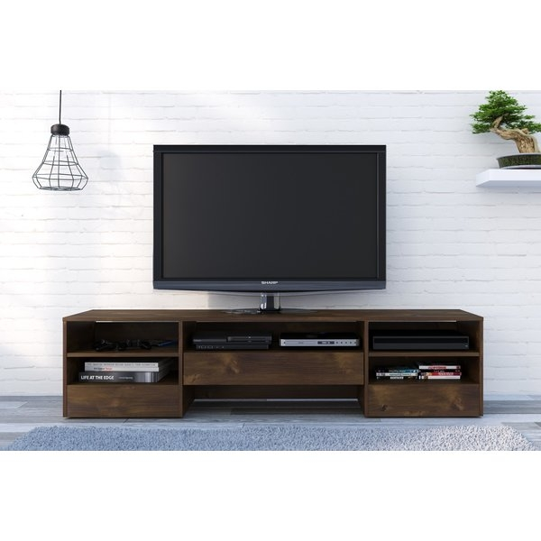 Magnificent Top Wooden TV Stands With Doors With Regard To Union Rustic Nori 72 Wood Tv Stand Reviews Wayfair (Image 36 of 50)