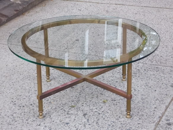Magnificent Trendy Antique Brass Glass Coffee Tables Throughout Vintage Brass Tray Coffee Table Coffeetablesmartin Tables (Image 37 of 50)