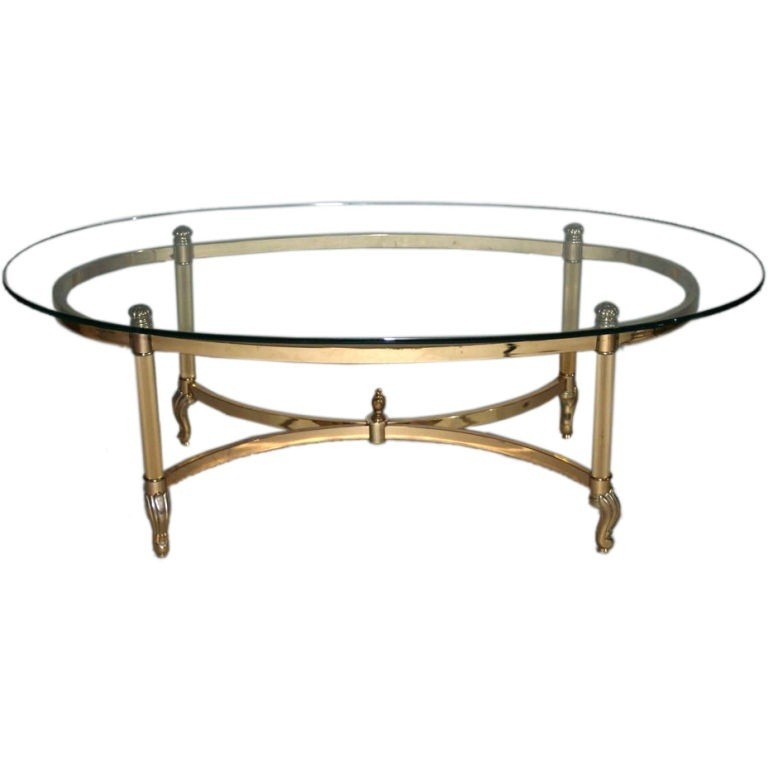 Magnificent Trendy Antique Glass Top Coffee Tables Inside Small Oval Glass Top Coffee Table Artcoffeetable Tables And Beyond (View 41 of 50)