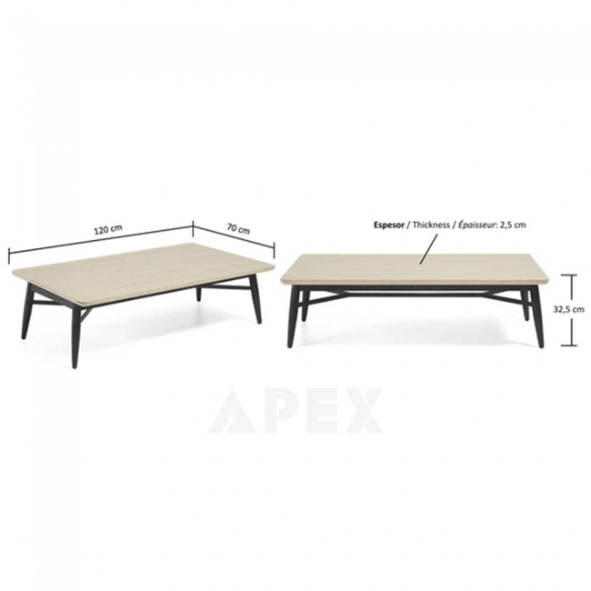 Magnificent Trendy Ava Coffee Tables Inside Ava Coffee Table Top In White American Oak And Metal Barons (Image 35 of 50)