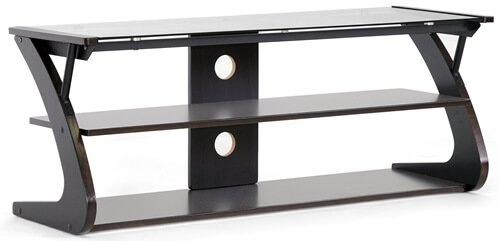 Magnificent Trendy Black Glass TV Stands Throughout Glass Flat Panel Tv Stands Television Stand Guide (Image 38 of 50)