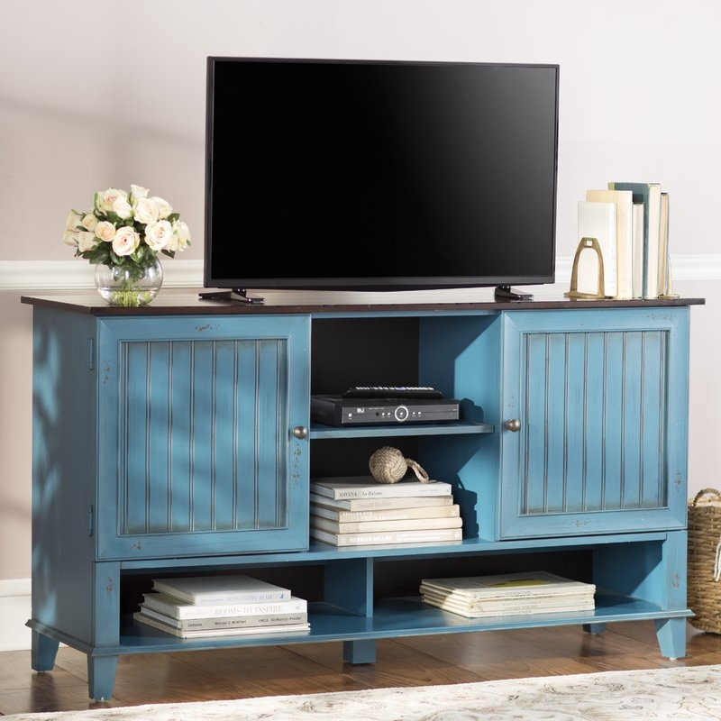 Magnificent Trendy Blue TV Stands With Kathy Ireland Home Martin Furniture Eclectic Deluxe 60 Tv (View 30 of 50)
