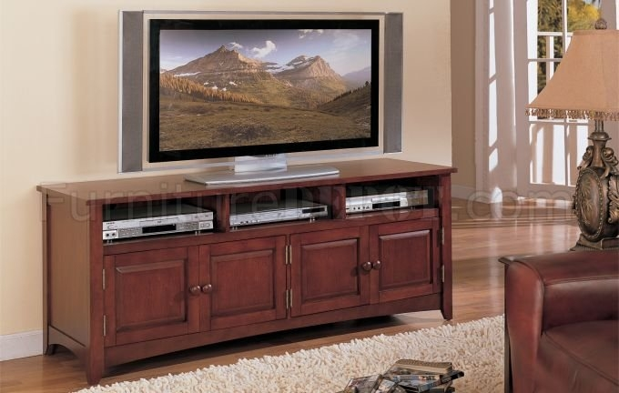 Magnificent Trendy Cherry TV Stands In Cherry Finish Classic Plasma Or Lcd Tv Stand Wstorage Cabinet (Image 35 of 50)