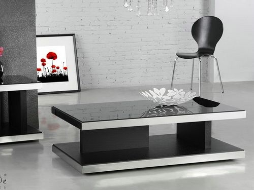 Magnificent Trendy Dark Glass Coffee Tables With Regard To Modern Glass Coffee Table (Image 39 of 50)