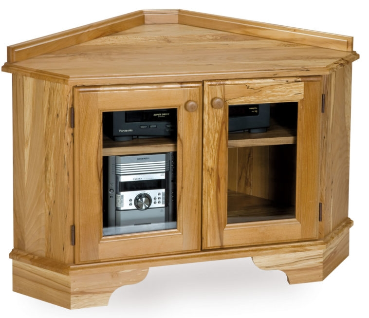 Magnificent Trendy Double TV Stands Pertaining To Furniture Teak Wood Dvd Cabinet With Shelf And Double Glass Door (Image 35 of 50)