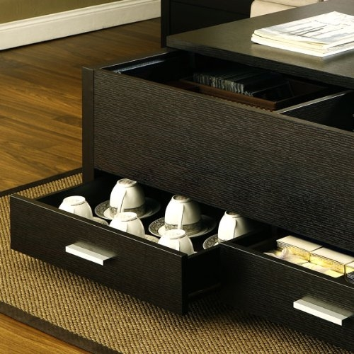 Magnificent Trendy Espresso Coffee Tables With Garretson Storage Box Coffee Table In Espresso Finish (View 20 of 50)