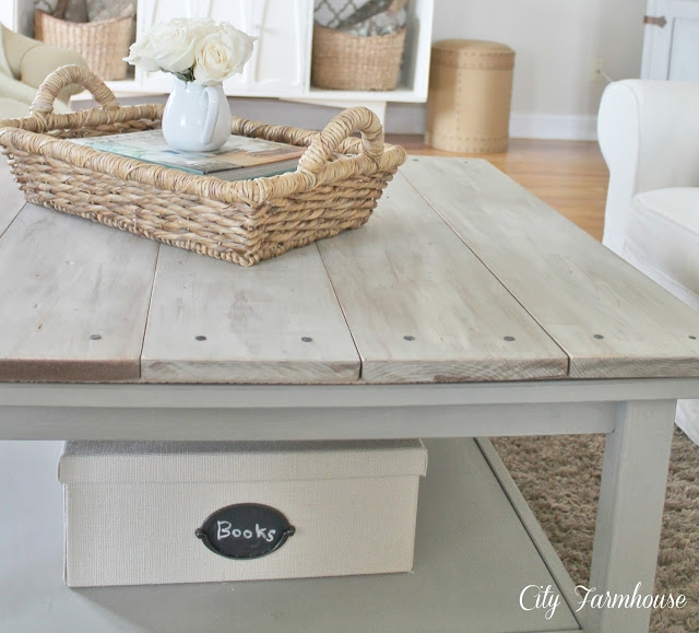Magnificent Trendy Gray Wood Coffee Tables Pertaining To Ikea Hacked Barnboard Coffee Table Tutorial City Farmhouse (Image 35 of 50)