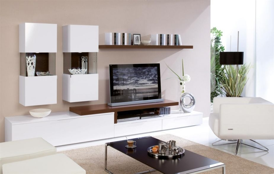 Magnificent Trendy White Contemporary TV Stands With Tv Stand Modern White 1487 Latest Decoration Ideas (Image 39 of 50)