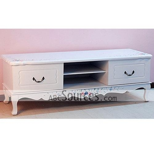 Magnificent Trendy White Wood TV Cabinets Inside Wholesale Elegant White Wooden Tv Cabinet Tv Stands Tv Furniture (Image 39 of 50)