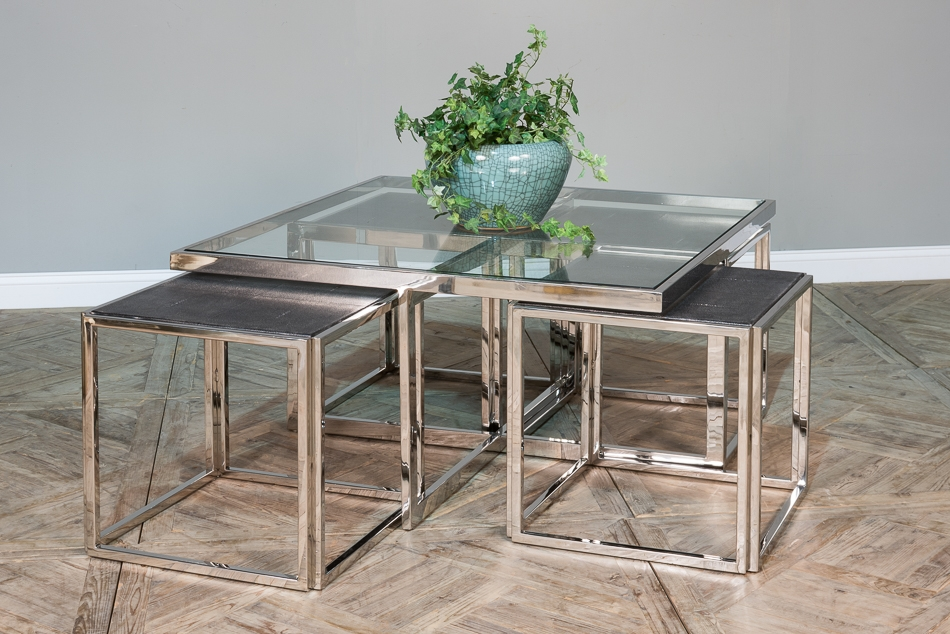 Magnificent Unique Coffee Tables With Nesting Stools Within Nesting Stools Coffee Table Sarreid Ltd Portal Your Source (Image 38 of 50)
