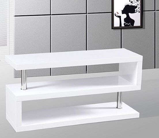 Magnificent Unique Contemporary White TV Stands Pertaining To Miami High Gloss Modern White Tv Stand (View 11 of 50)