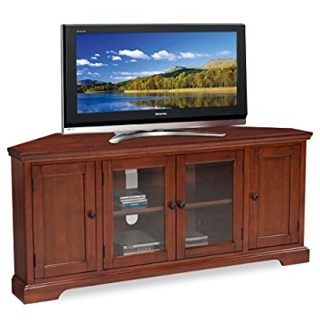Magnificent Unique Corner TV Stands For 60 Inch Flat Screens Throughout Amazon Leick Westwood Corner Tv Stand 60 Inch Cherry (Image 37 of 50)
