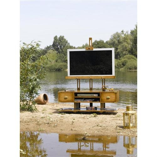 Magnificent Unique Easel TV Stands For Flat Screens Intended For Easel For Plasma Tv From Elysee Collection (View 27 of 50)