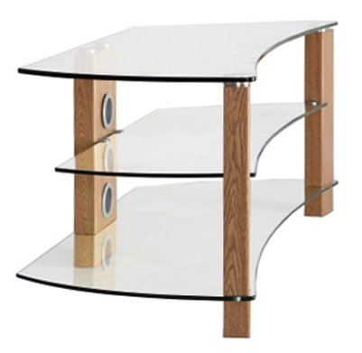 Magnificent Unique Glass And Oak TV Stands For Tnw Vision Curve Oak 1200 Tv Stands (Image 32 of 50)