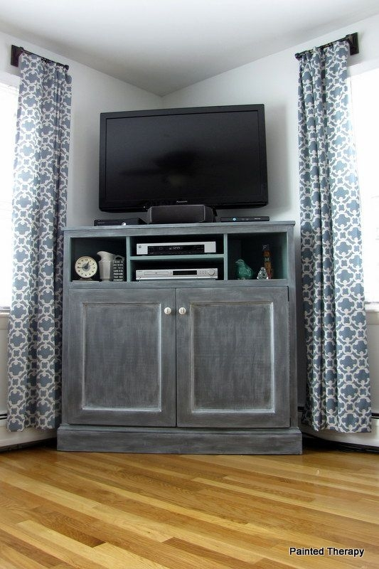 Industrial corner tv stands tv stand ideas - Dresser as tv stand in living room ...