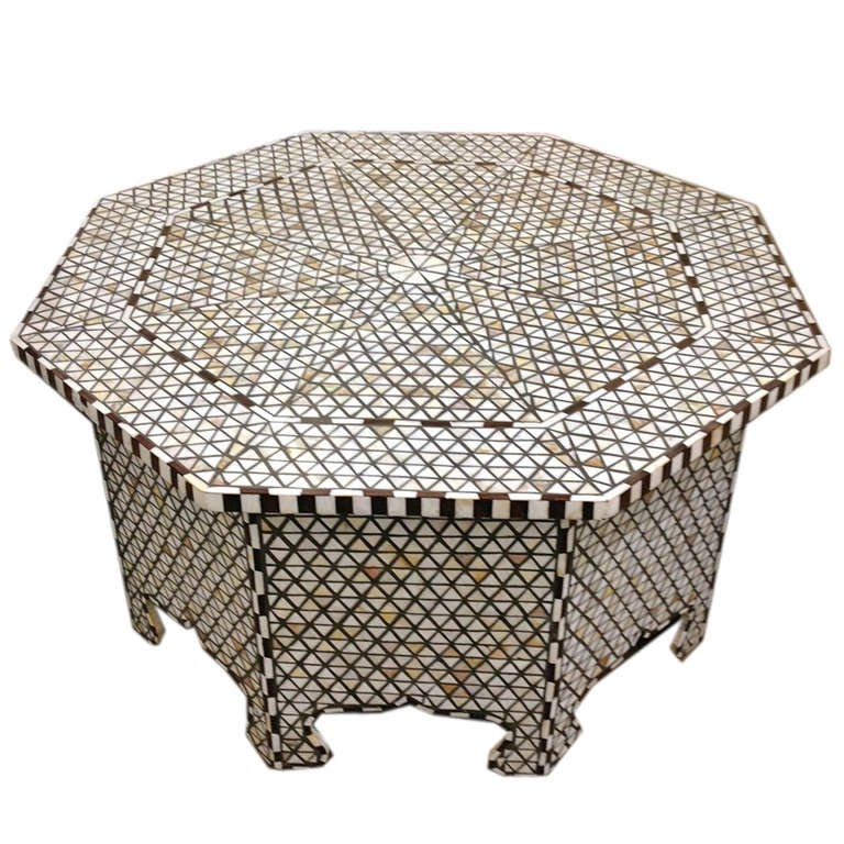 Magnificent Unique Mother Of Pearl Coffee Tables Pertaining To Mother Of Pearl Coffee Table Likely Syrian At 1stdibs (View 3 of 50)