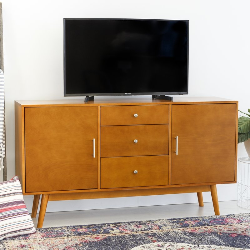 Magnificent Unique Orange TV Stands In Corrigan Studio Shaun 60 Tv Stand Reviews Wayfair (View 38 of 50)
