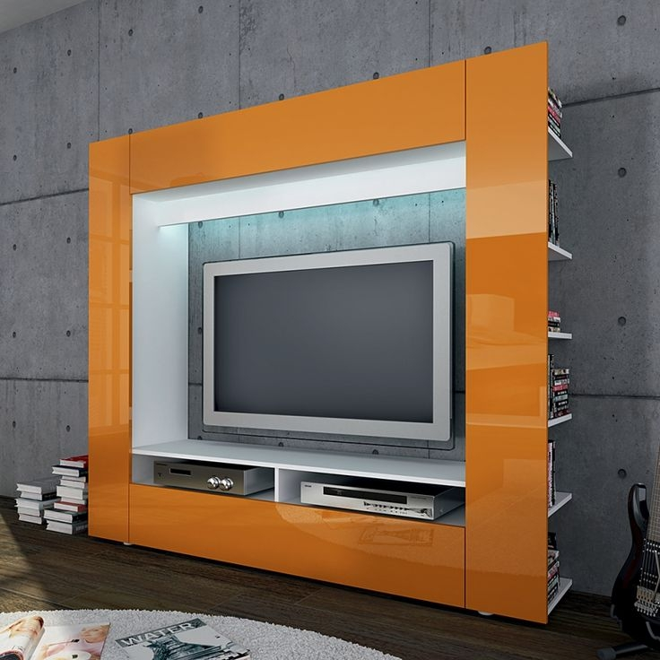 Magnificent Unique Orange TV Stands Throughout 69 Best Tv Stand And Wall Images On Pinterest Tv Stands Home (View 23 of 50)