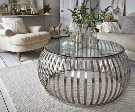 Magnificent Unique Silver Drum Coffee Tables Inside Drum Coffee Table Freedom Furniture And Homewares Anthonys (Image 36 of 50)